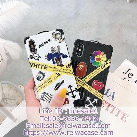 off white x aape x cdg コラボ iphone11/xsカバー