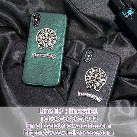 Chrome Hearts iphonex xr xsmaxケース 革製高級感